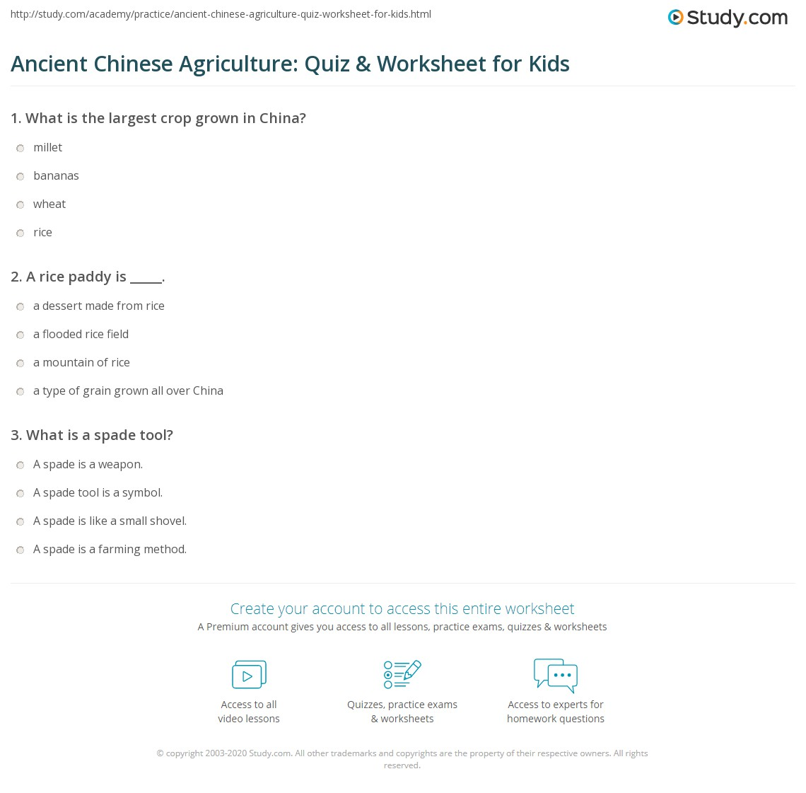worksheet One Grain Of Rice Worksheet Answers ancient chinese agriculture quiz worksheet for kids study com print farming in china lesson worksheet