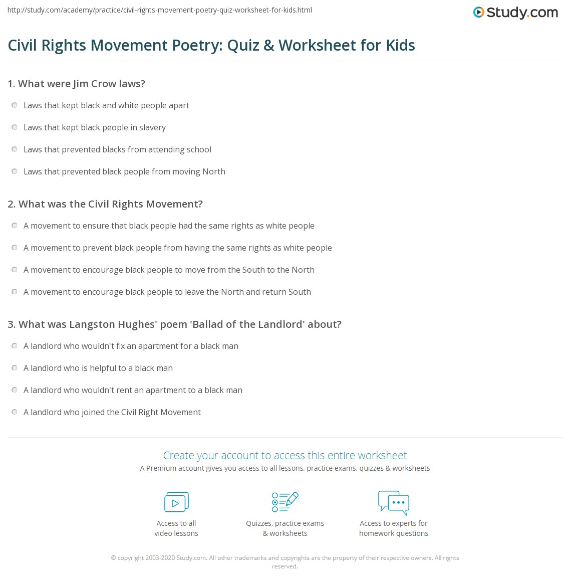 poetry civil proper rights movement