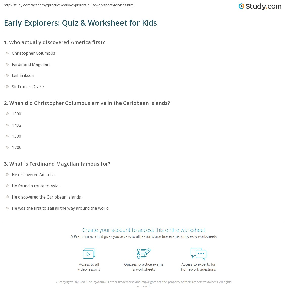 Worksheets Early Explorers Worksheets early explorers quiz worksheet for kids study com print lesson worksheet