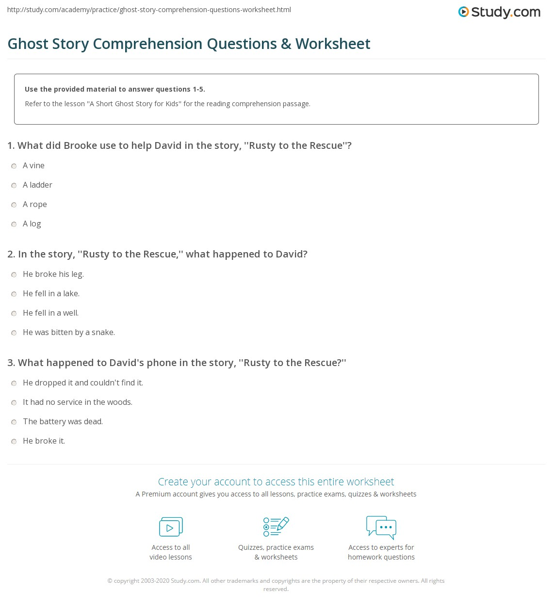 Uncategorized The Moral Of The Story Math Worksheet ghost story comprehension questions worksheet study com print a short for kids worksheet