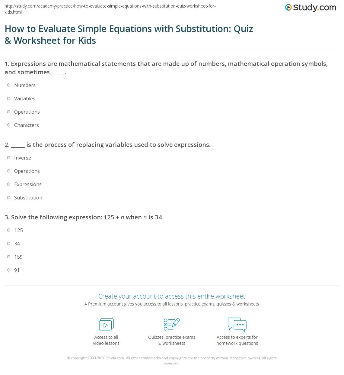 Worksheet Simple Equations Worksheet Worksheet Fun Worksheet Study