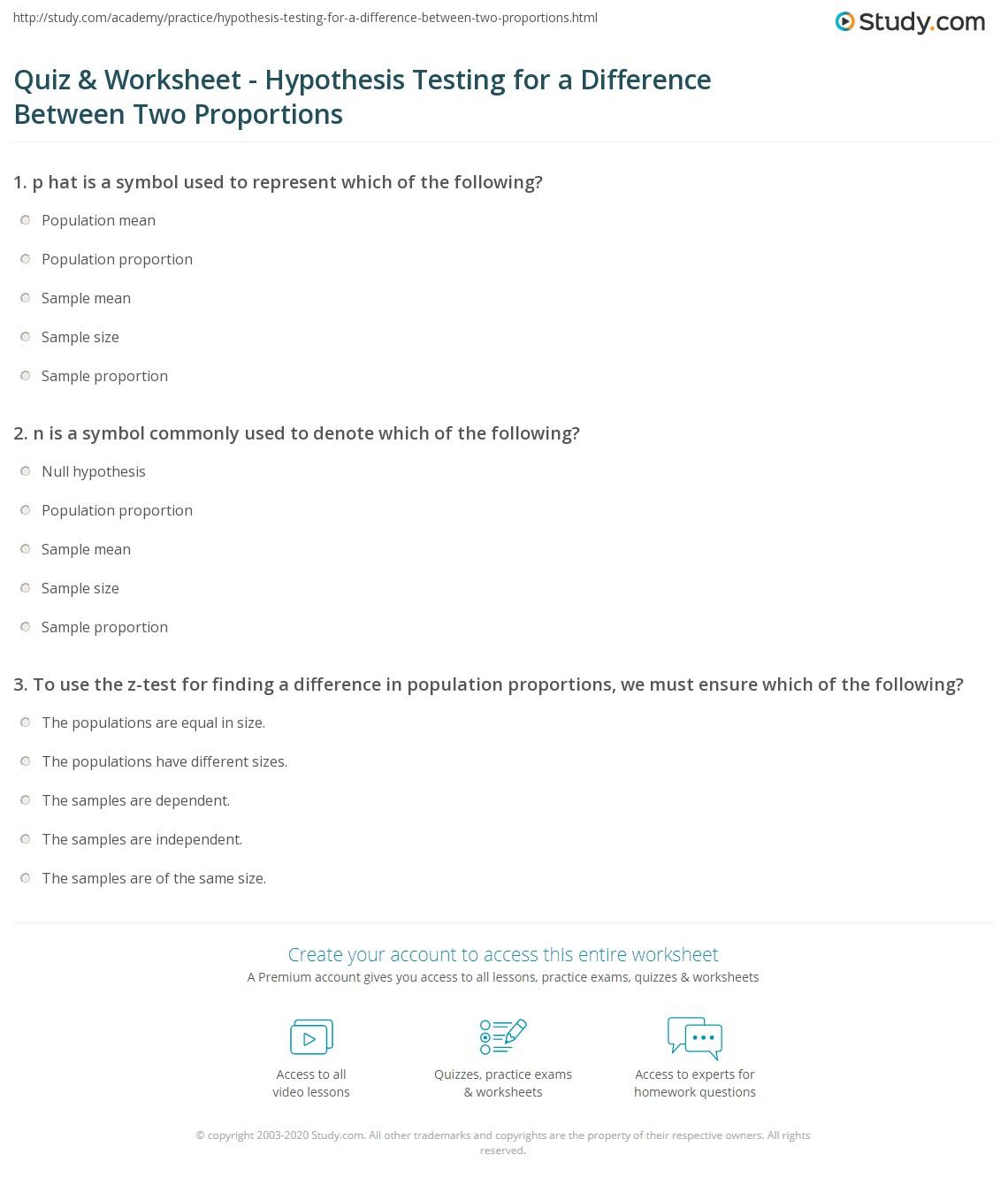 hypothesis testing worksheet free worksheets library download and print worksheets free on. Black Bedroom Furniture Sets. Home Design Ideas