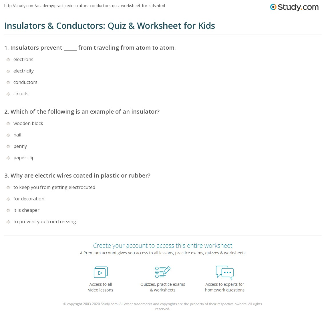 Conductors And Insulators Worksheet. atidentity.com .