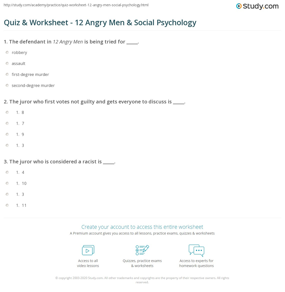 quiz worksheet angry men social psychology com print 12 angry men social psychology worksheet