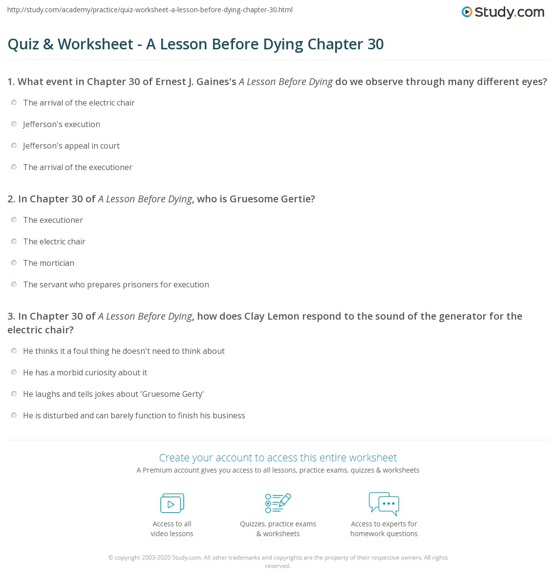 a lesson before dying dialectical journal