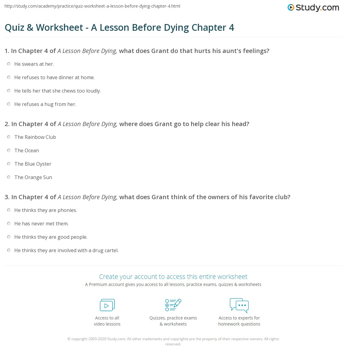 argumentative essay on a lesson before dying