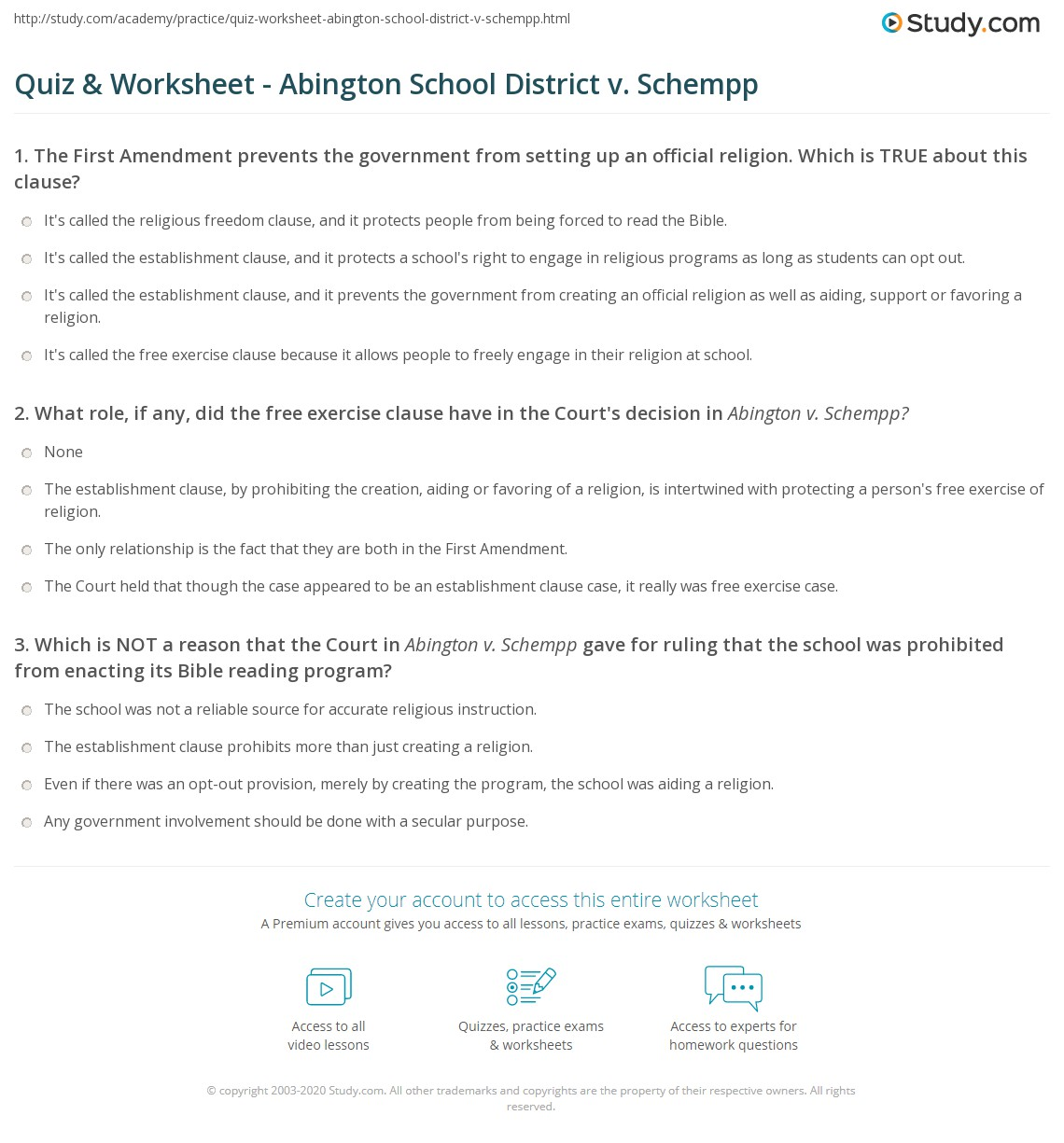 abington school district vs schempp