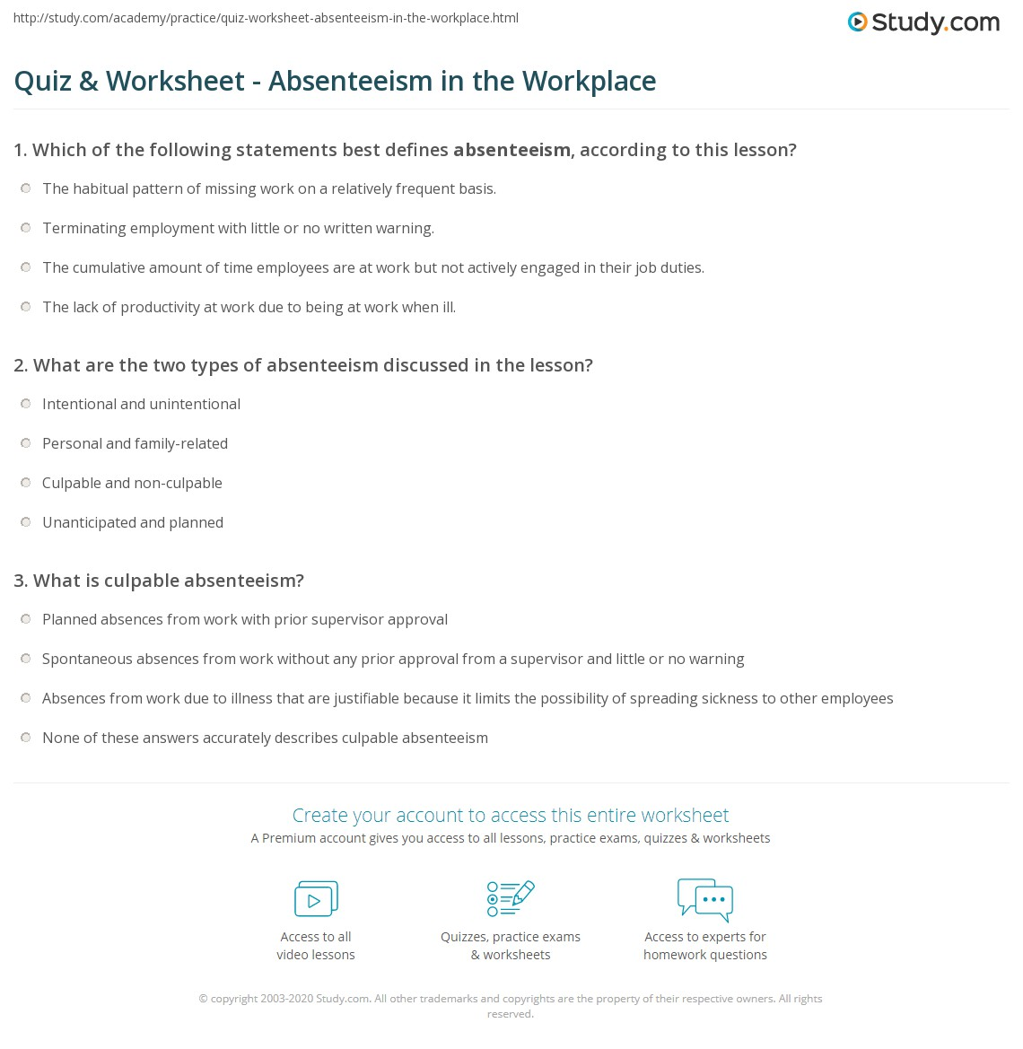 how to solve absenteeism in the workplace