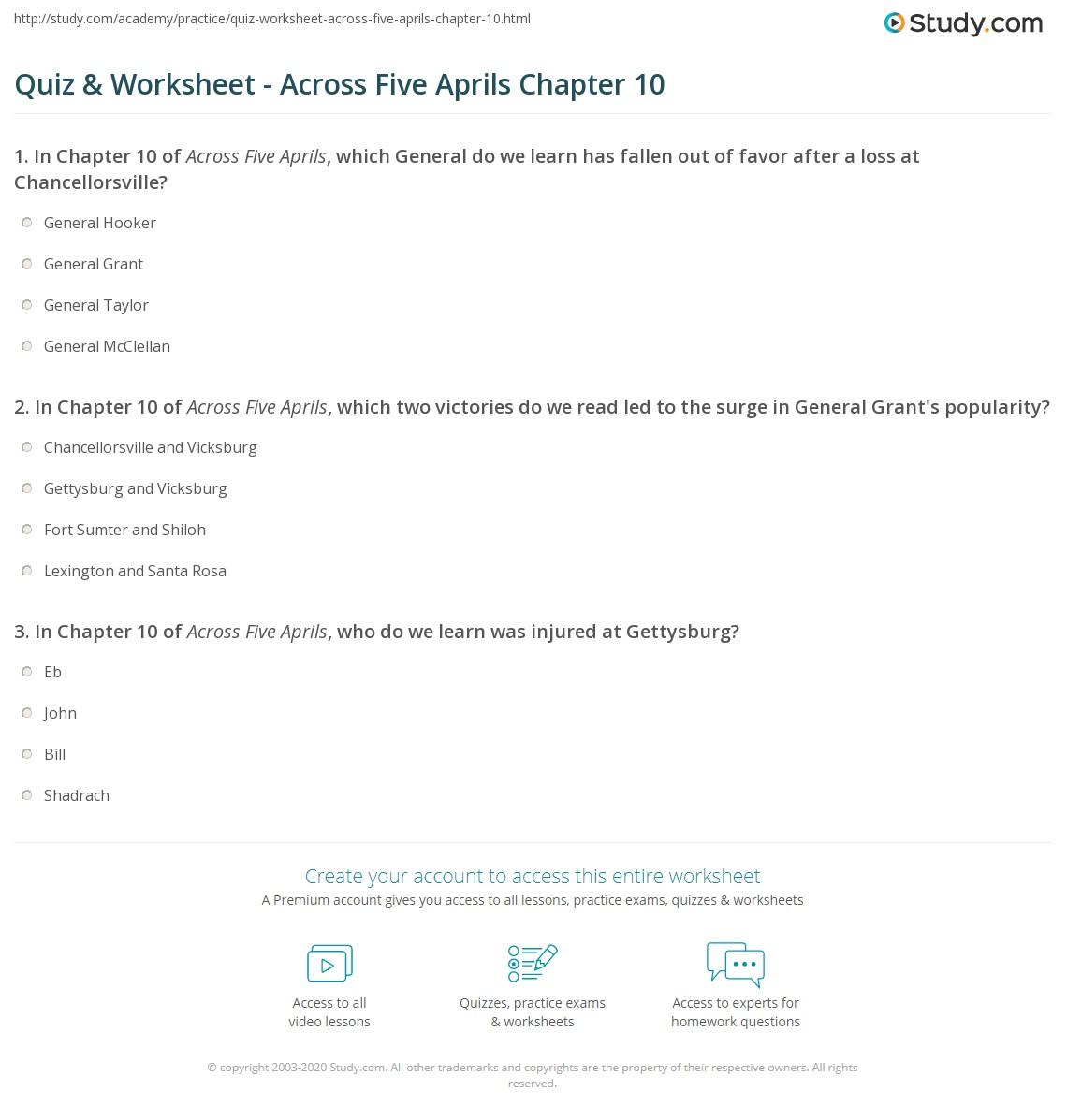 worksheet Five Number Summary Worksheet quiz worksheet across five aprils chapter 10 study com print summary worksheet