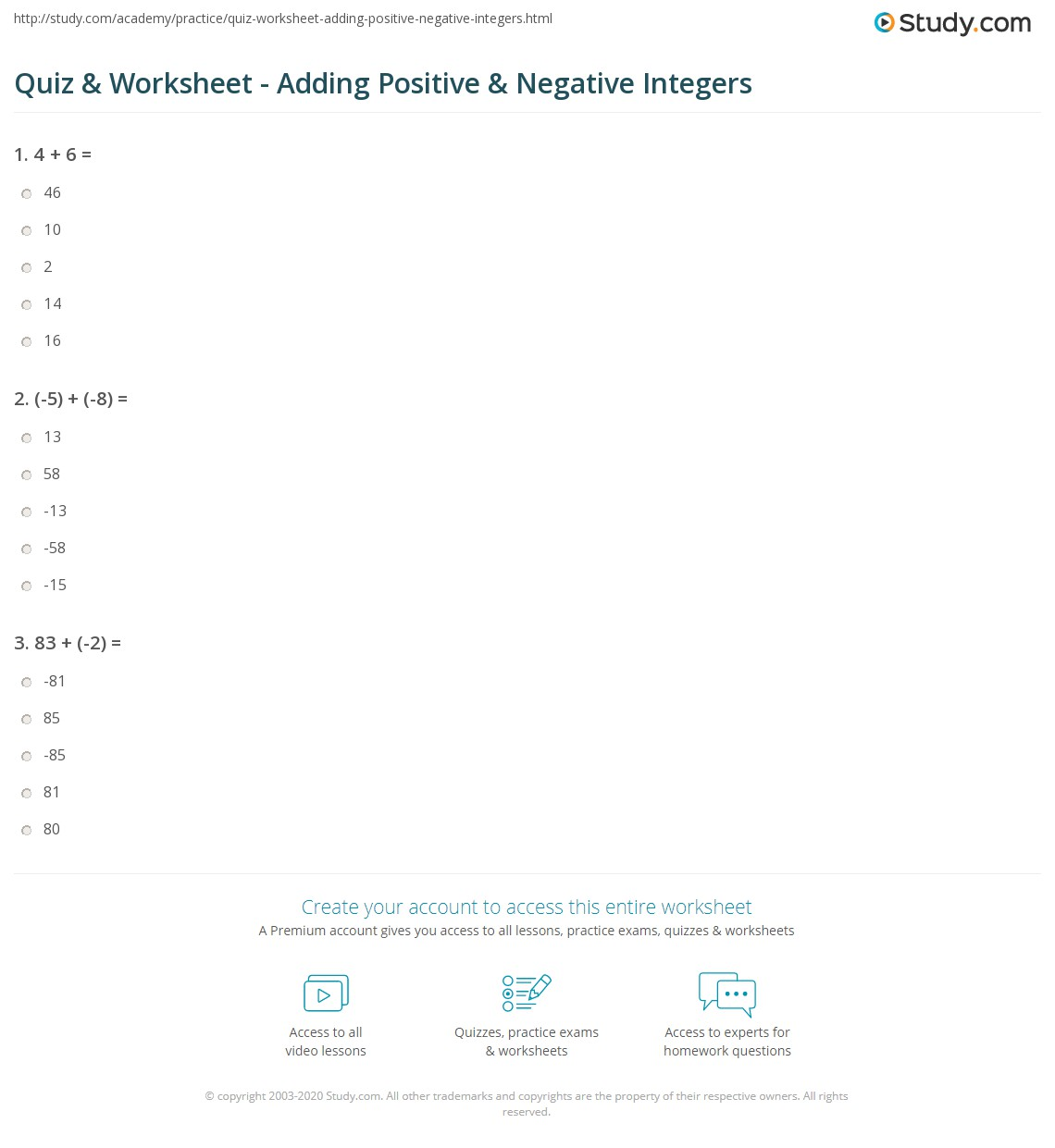 Integers Worksheets Adding Negative And Positive Integers Worksheets likewise Add and Subtract 'Larger Value' Positive and Negative Integers moreover Positive And Negative Numbers Worksheets Teaching Resources furthermore May Adding Negative And Positive Integers Worksheets together with Integer Worksheets together with Integers Worksheets   Dynamically Created Integers Worksheets together with  moreover Negative Number Worksheets   Free    monCoreSheets in addition Integers Worksheets   Dynamically Created Integers Worksheets moreover Quiz   Worksheet   Adding Positive   Negative Integers   Study further  further Multiplying Positive and Negative Integers Worksheet for 5th   7th additionally  furthermore Negative Number Worksheets   Free    monCoreSheets further Integer Worksheet 6th Grade Pdf Addition And Subtraction Of Integers together with . on positive and negative integers worksheets