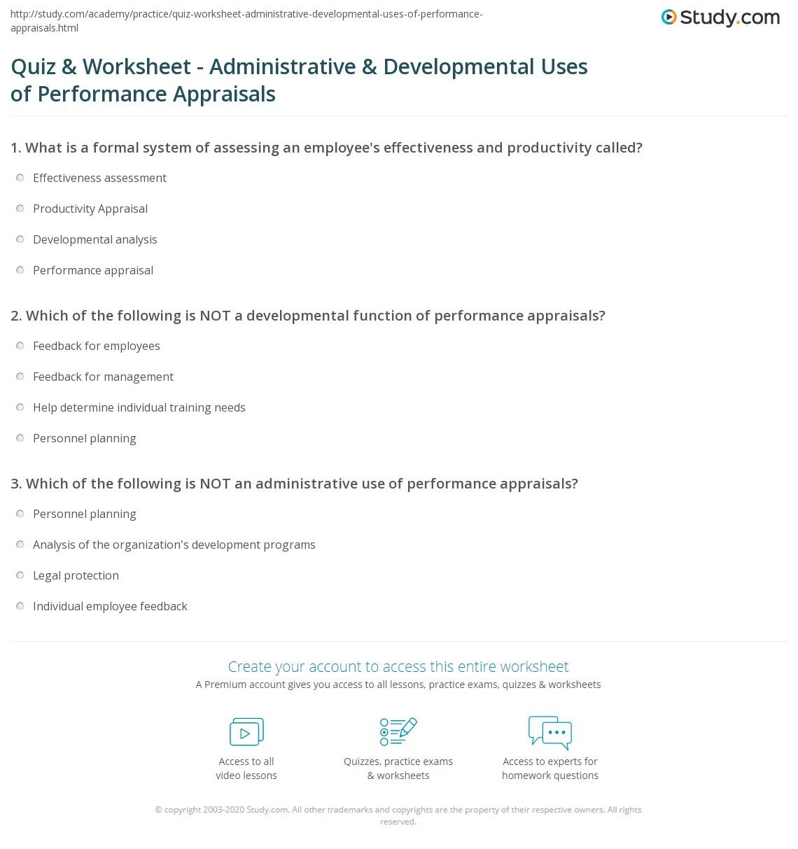 Quiz Amp Worksheet Administrative Amp Developmental Uses Of