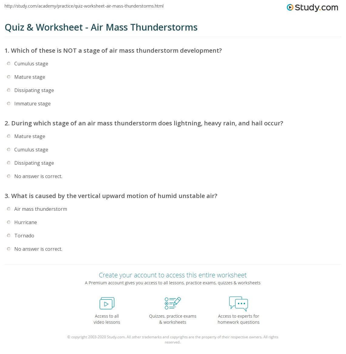 Free Worksheet Child Support Worksheet Washington thunderstorm worksheets delibertad quiz worksheet air mass thunderstorms study com