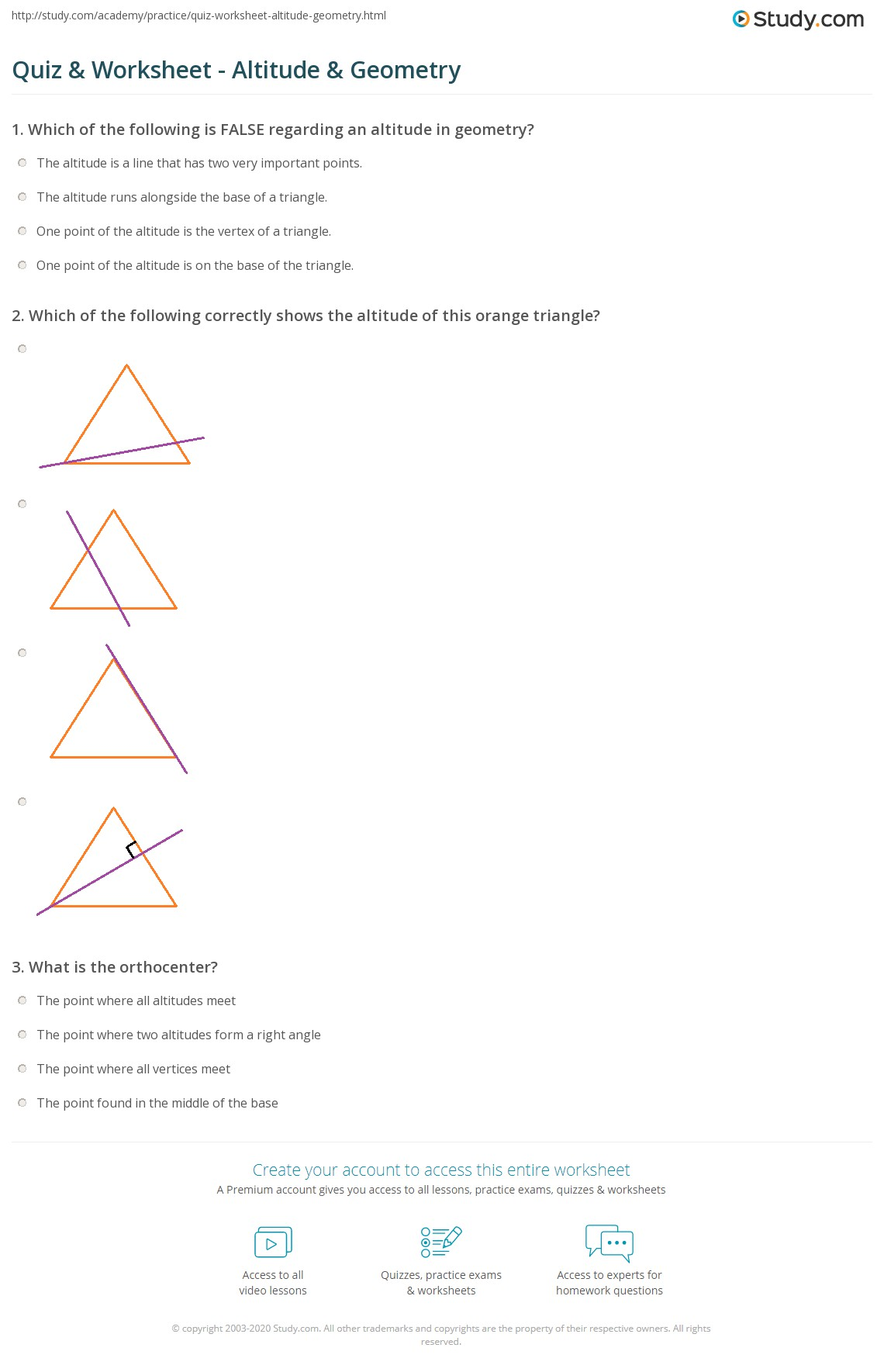geometry practice quizz This exam will test your knowledge of geometry topics will include the properties and applications of common geometric figures in two and three dimen.