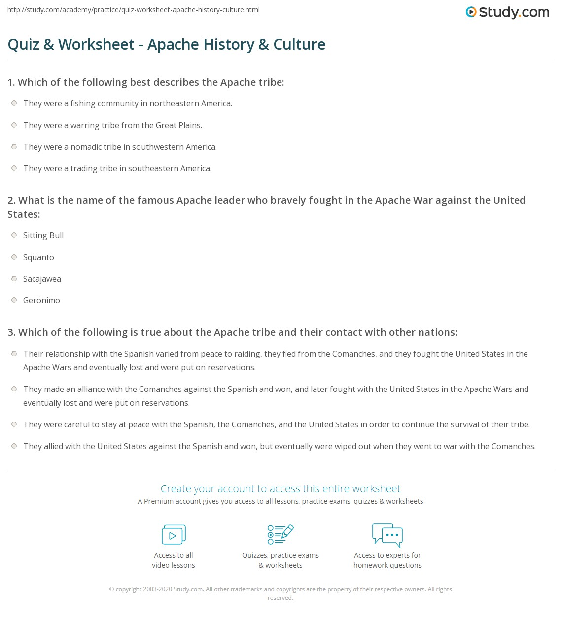 Uncategorized Semicolon Practice Worksheets quiz worksheet apache history culture study com print tribe facts worksheet