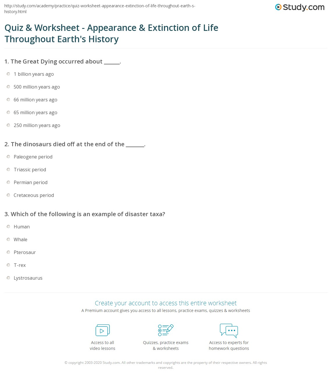Worksheets Catastrophic Events Worksheets quiz worksheet appearance extinction of life throughout print developments extinctions on the geological time scale worksheet