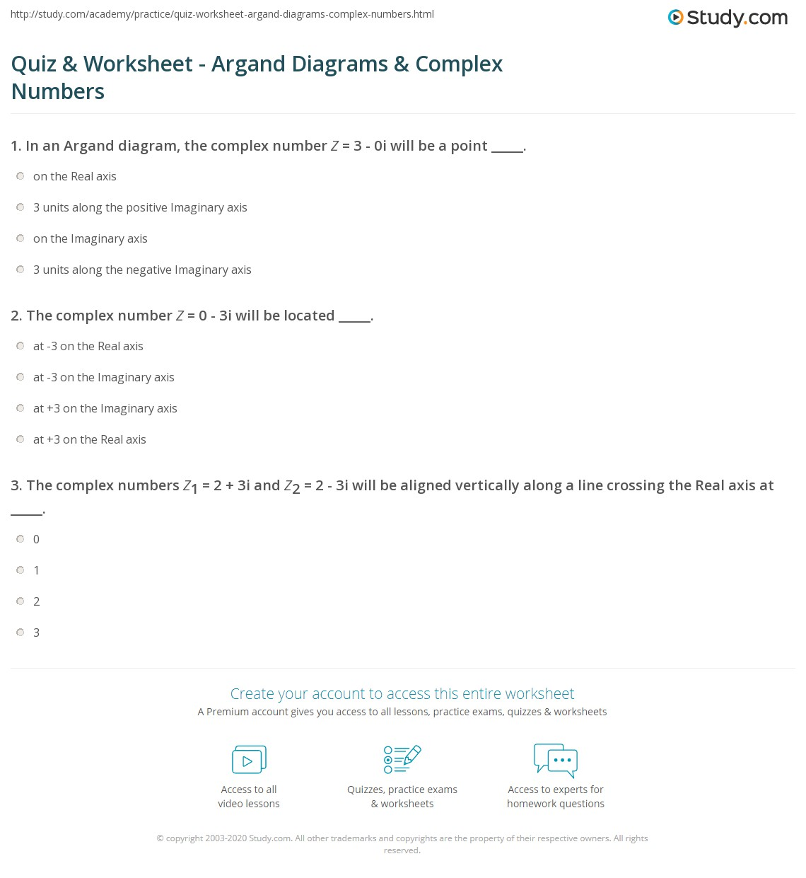 Worksheets Operations With Complex Numbers Worksheet quiz worksheet argand diagrams complex numbers study com print representing with worksheet