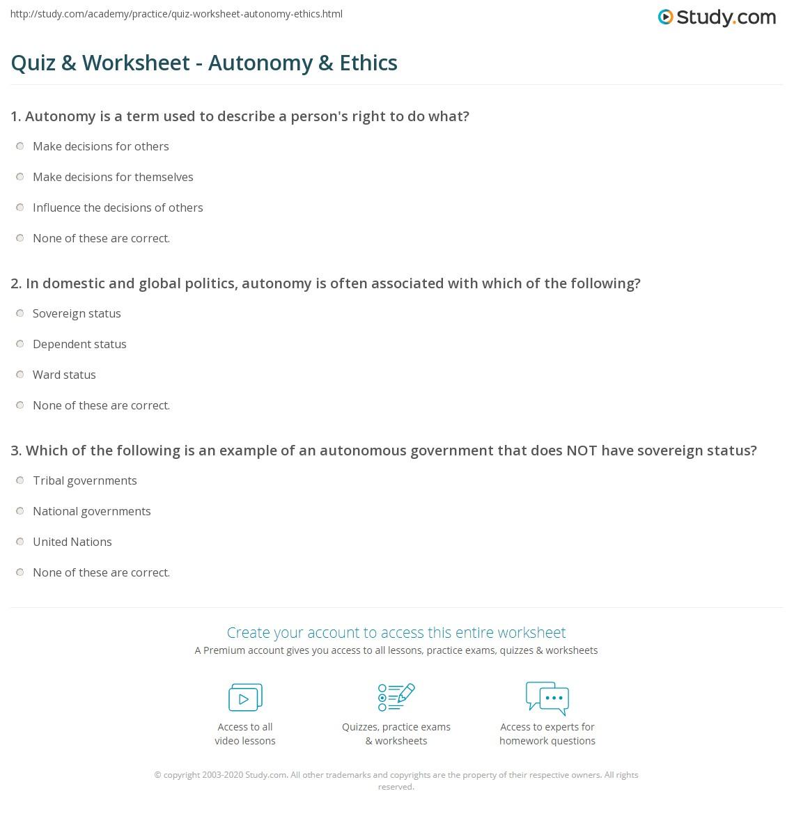 What is autonomy 11