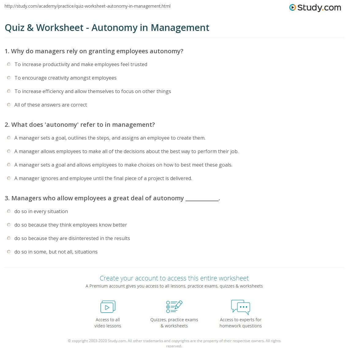 What is autonomy 50