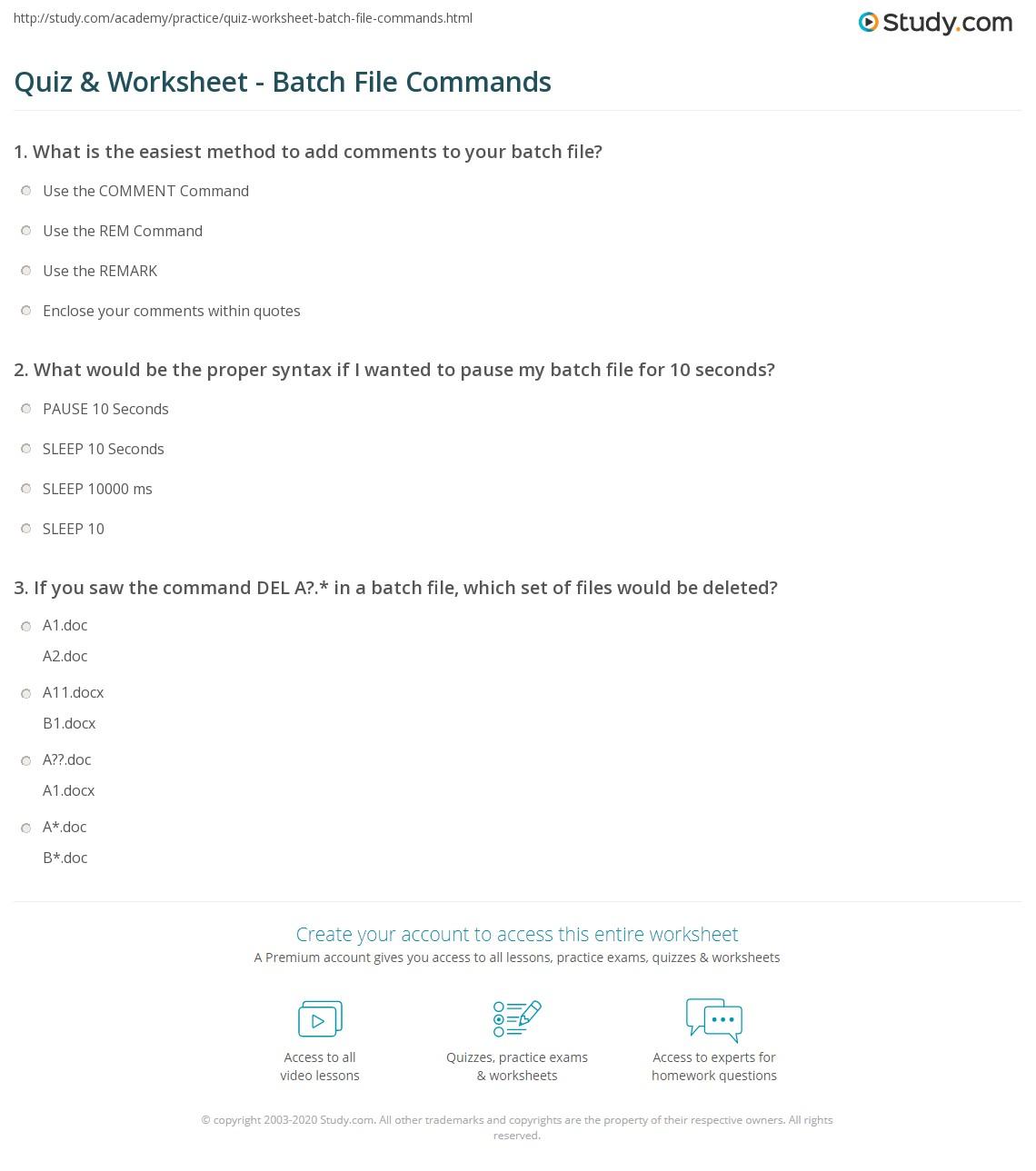 How to write a dos batch file