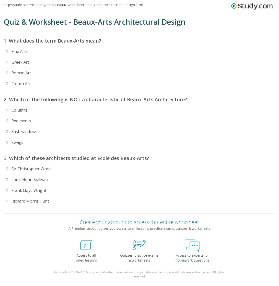 Awesome Print Beaux Arts Architecture: Definition, Characteristics U0026 Style Worksheet