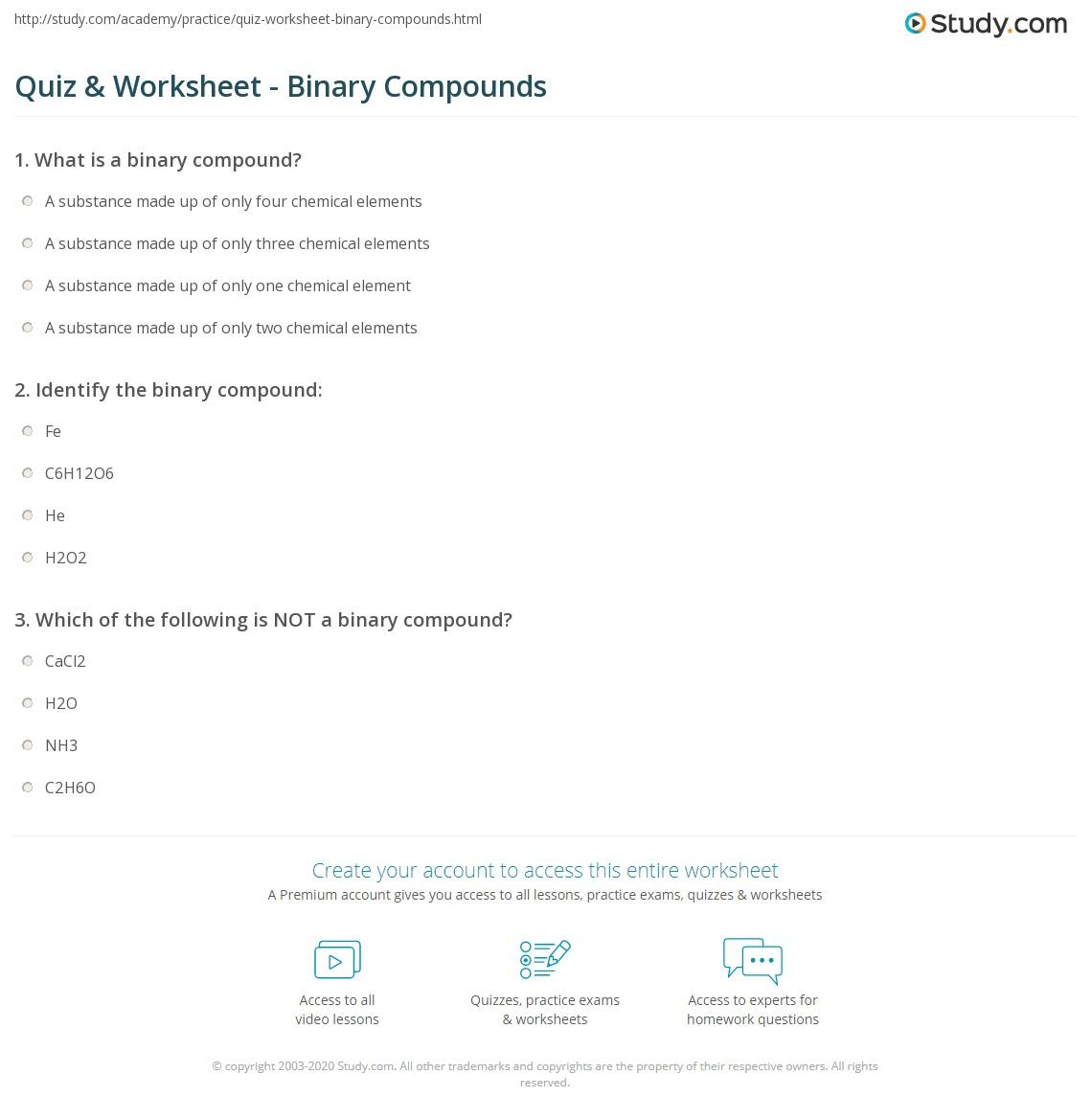 Binary Compound Definition on Latest Chemical Formula Writing Worksheet