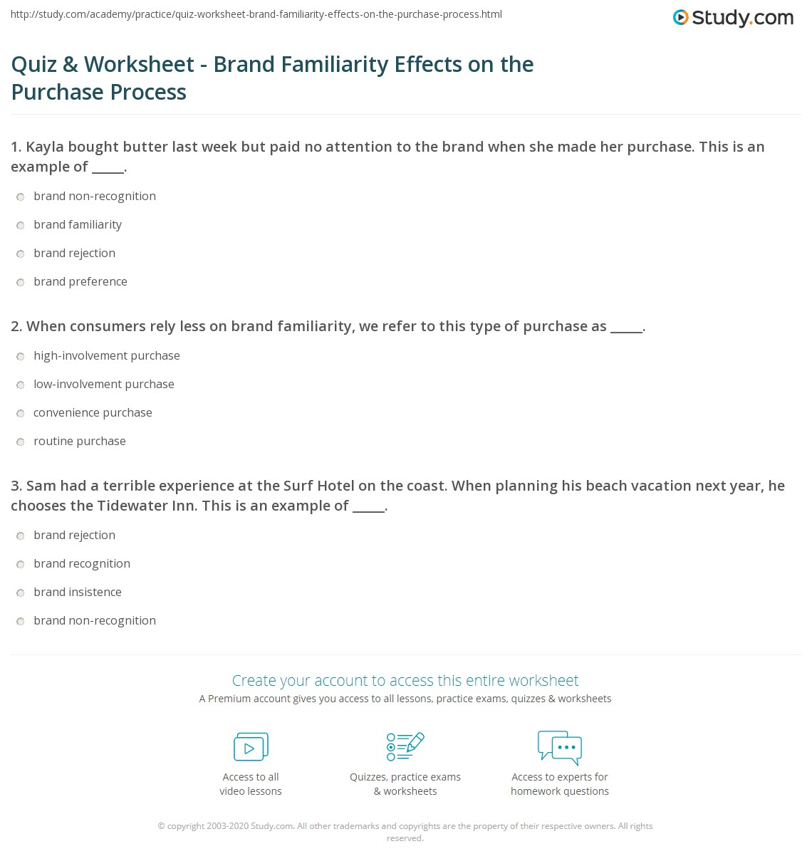 Quiz & Worksheet - Brand Familiarity Effects on the Purchase  math worksheets, education, printable worksheets, worksheets for teachers, and alphabet worksheets Currency Conversions Worksheet 2 1394 x 1140