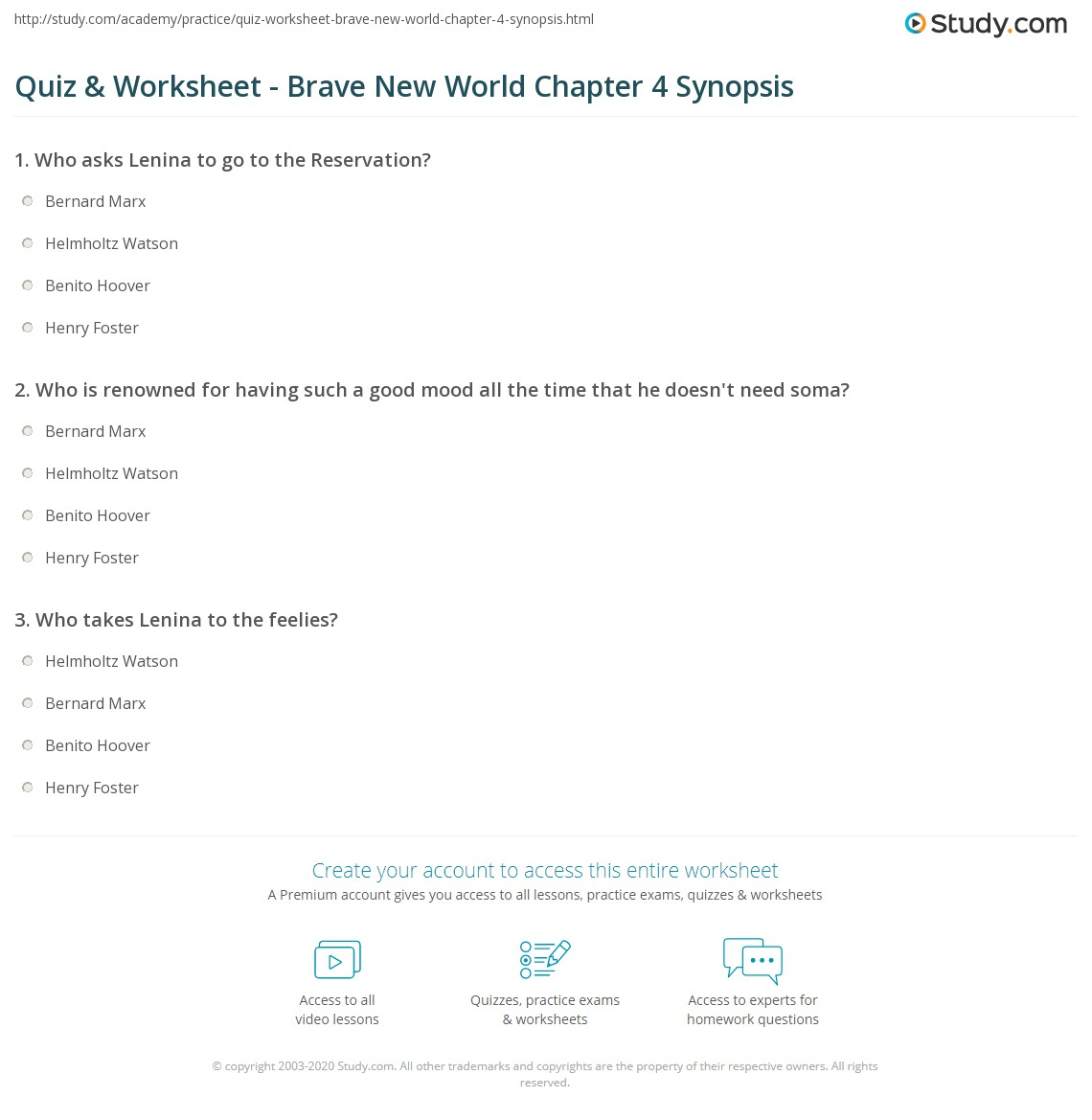 Brave New World Quotes About Soma Quiz & Worksheet  Brave New World Chapter 4 Synopsis  Study