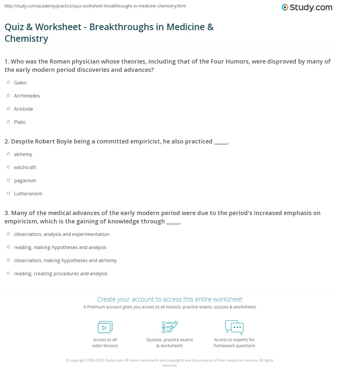 Quiz & Worksheet - Breakthroughs in Medicine & Chemistry  Study.com math worksheets, education, printable worksheets, worksheets for teachers, and alphabet worksheets Currency Conversions Worksheet 2 1394 x 1140