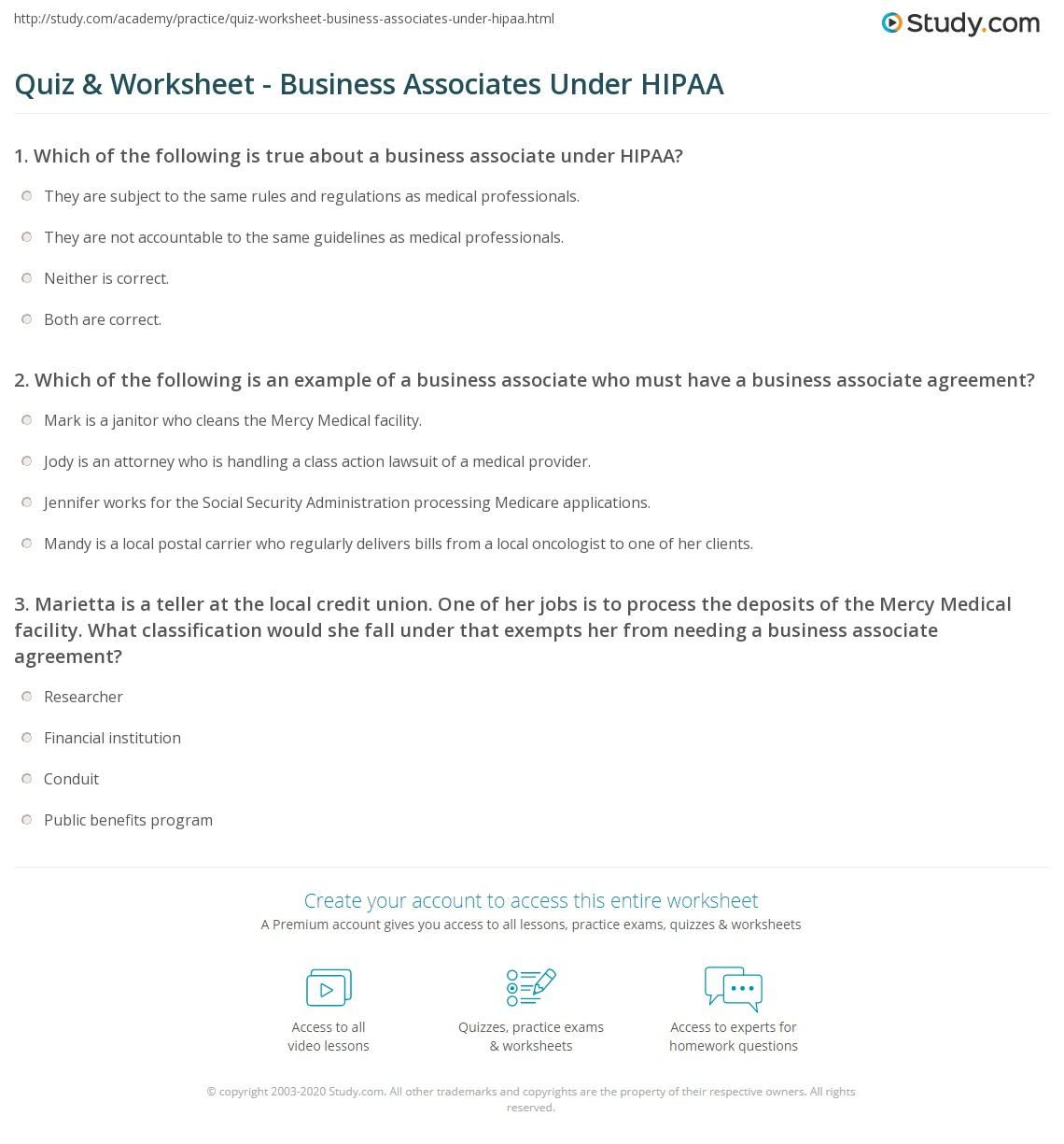 Which Of The Following Is An Example Of A Business Associate Who Must Have  A Business Associate Agreement?
