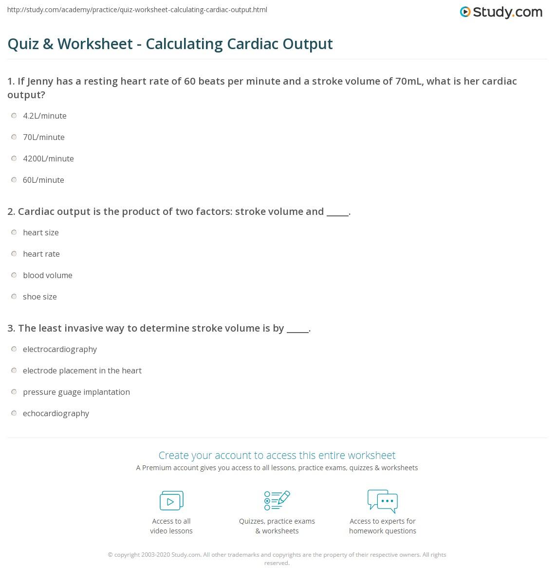 Equation For Cardiac Output - Jennarocca