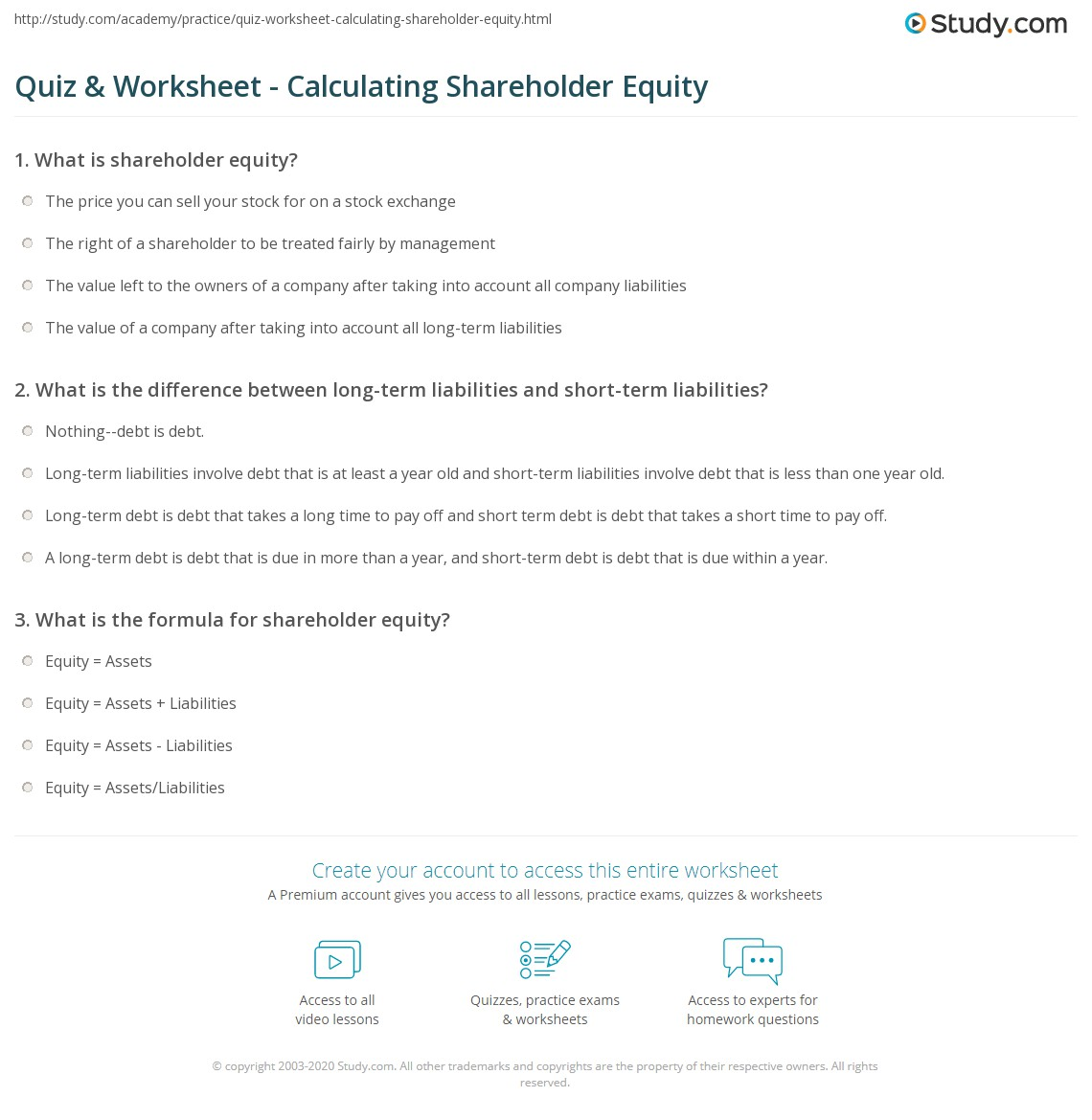 what is shareholder equity