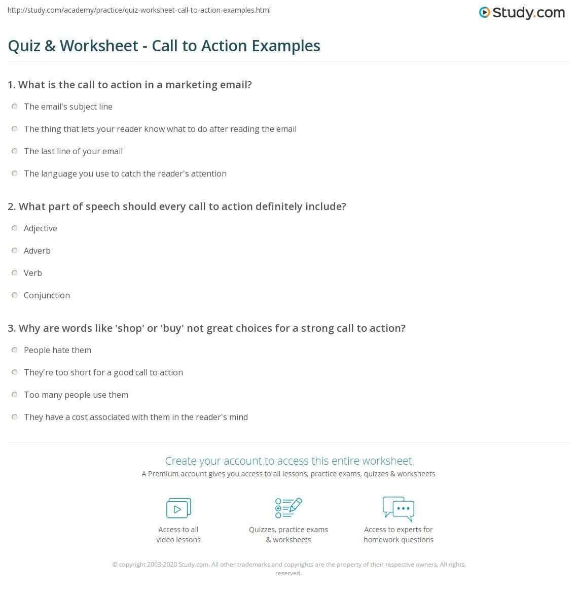 call to action speech ideas