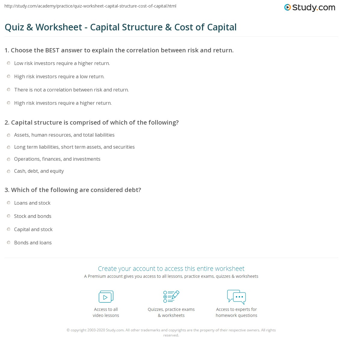What is the structure of capital