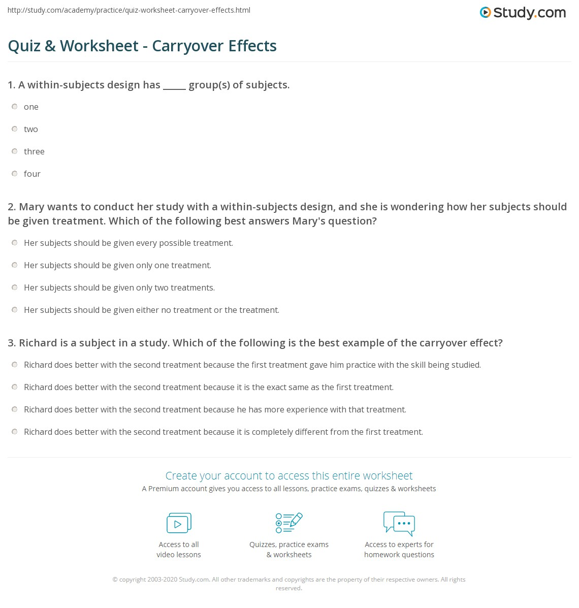 worksheet Carryover Worksheet quiz worksheet carryover effects study com print how they can be controlled through counterbalancing worksheet