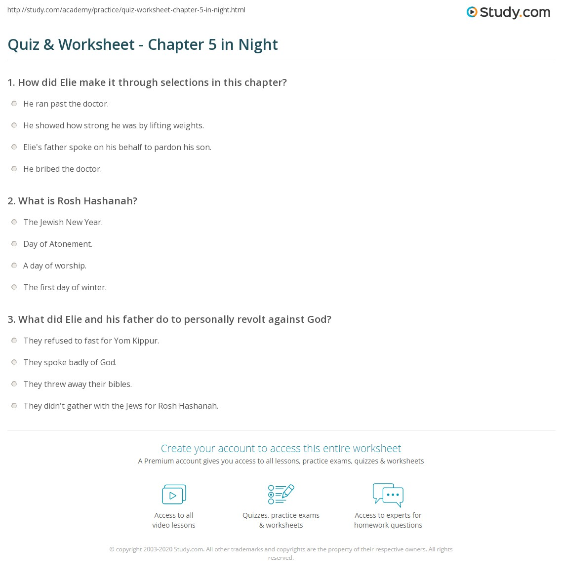 night elie wiesel discussion questions