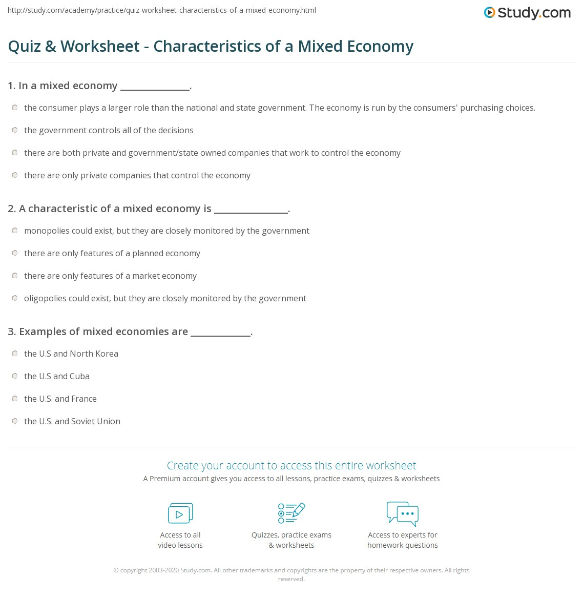 mixed economy definition and example
