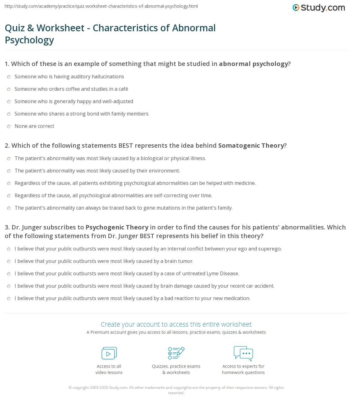the practice of clinical psychology worksheet Test your understanding of the different specializations in clinical psychology with  these  gives you access to all lesson, practice exams, quizzes & worksheets.