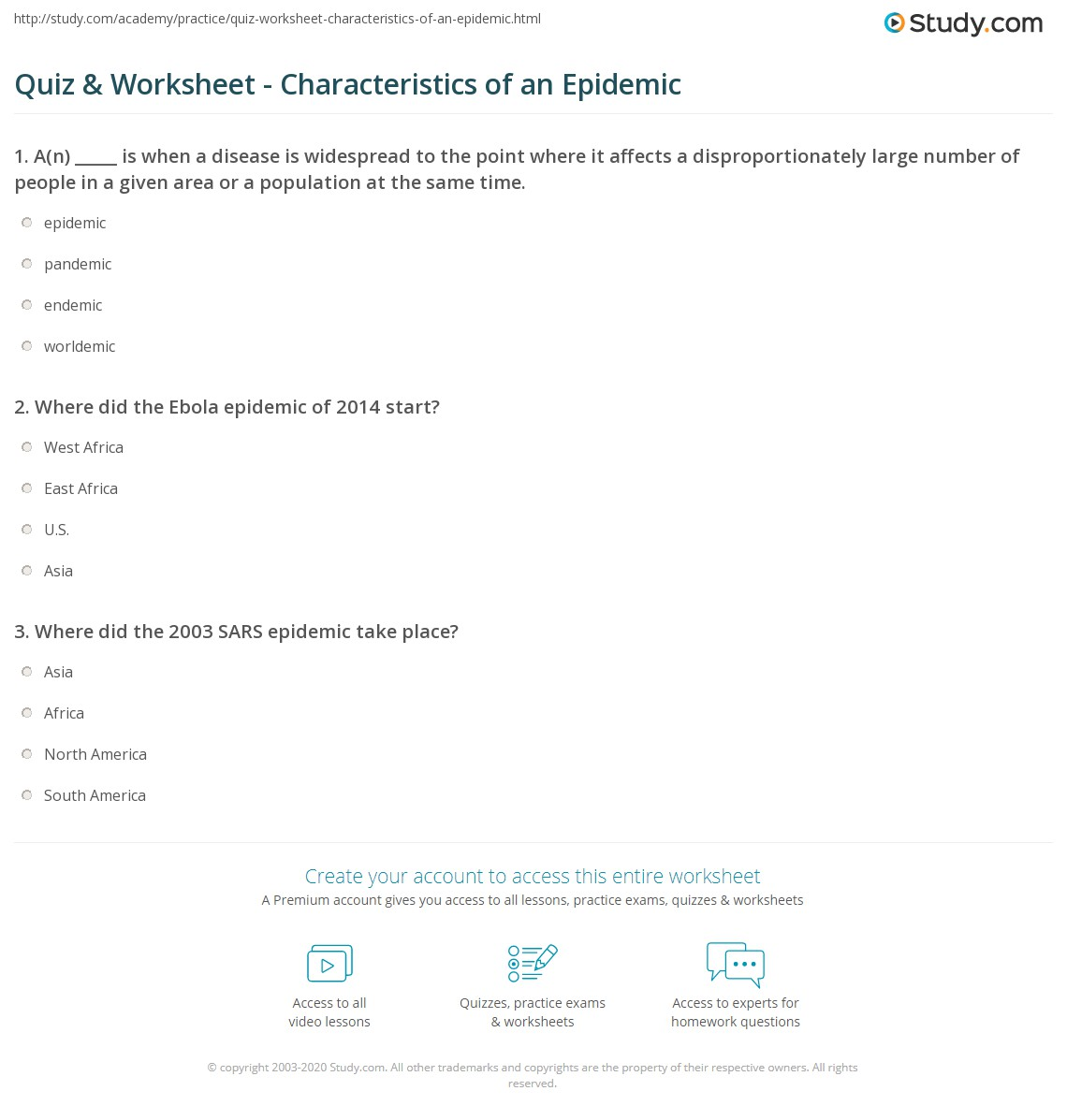 Print What Is An Epidemic?   Definition U0026 Examples Worksheet