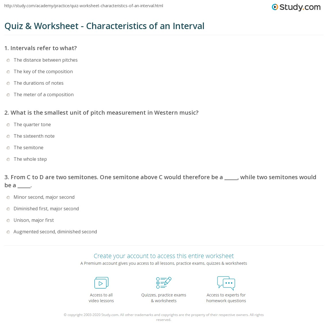 Characteristic intervals. What are characteristic intervals