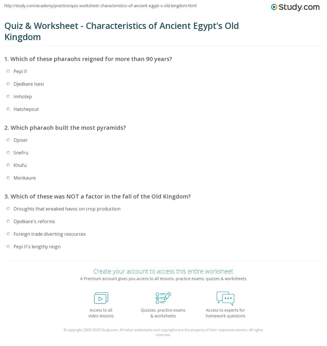 Print Old Kingdom of Ancient Egypt  Timeline   Facts WorksheetQuiz   Worksheet   Characteristics of Ancient Egypt s Old Kingdom  . Ancient Egyptian Architecture Timeline. Home Design Ideas