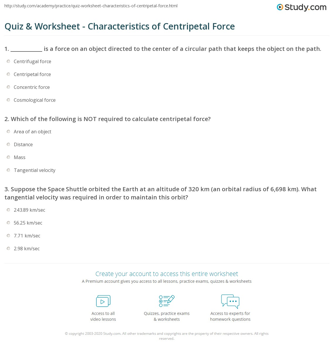 Worksheets Centripetal Force Worksheet quiz worksheet characteristics of centripetal force study com print definition formula examples worksheet