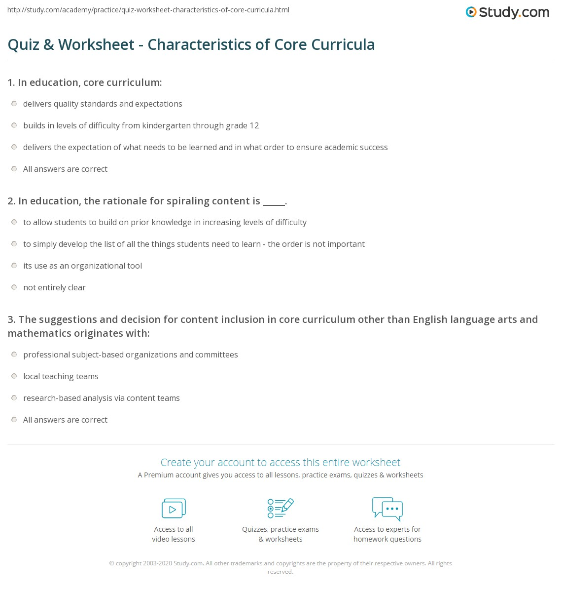 academic success worksheet 1