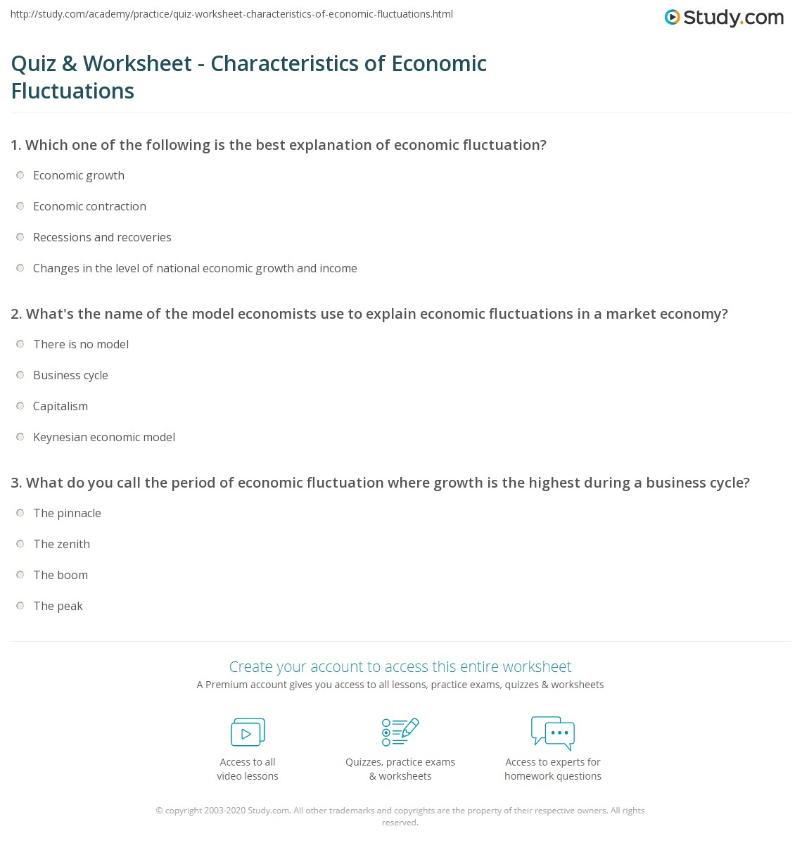 What does the economy study