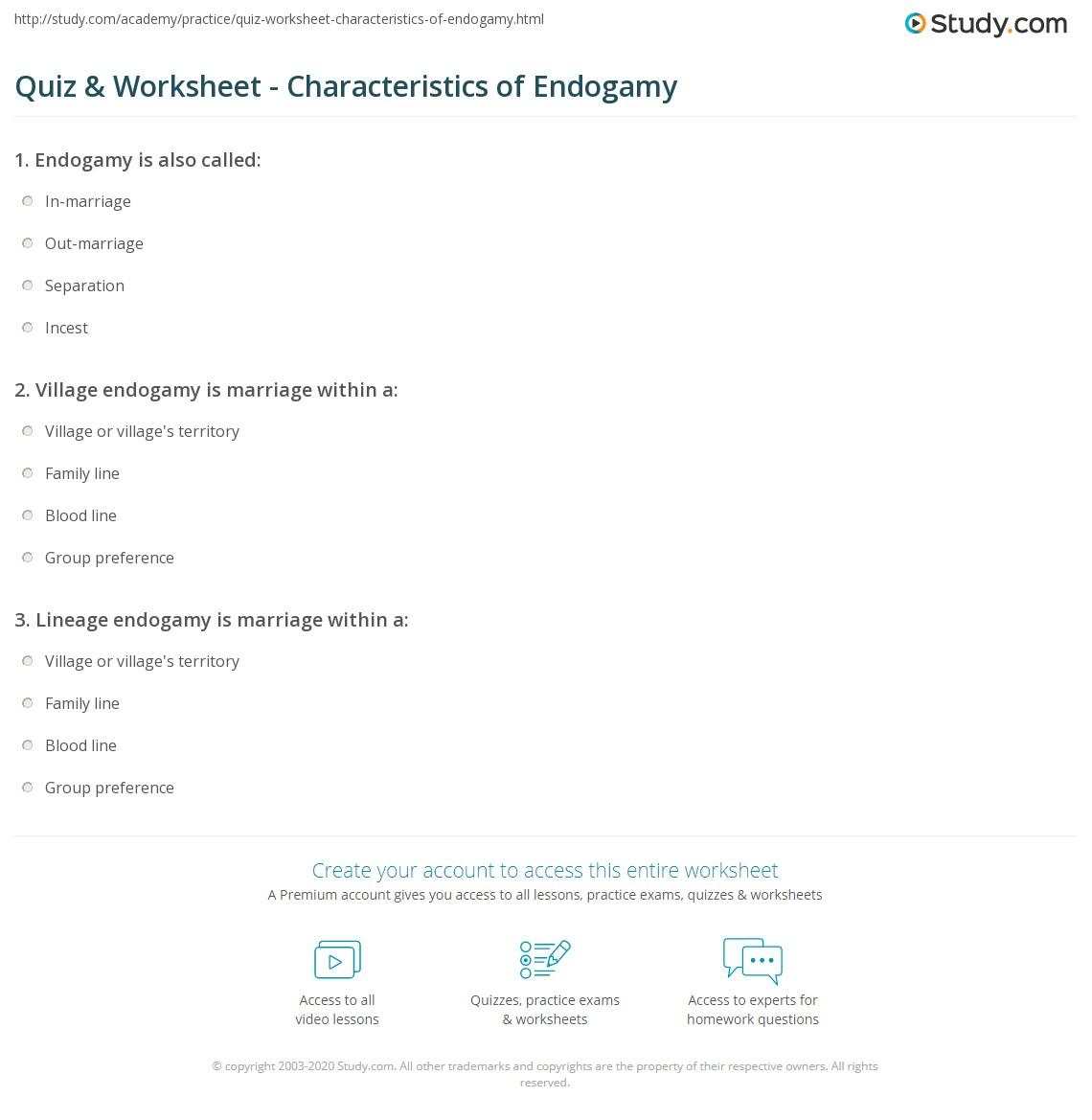 endogamy definition