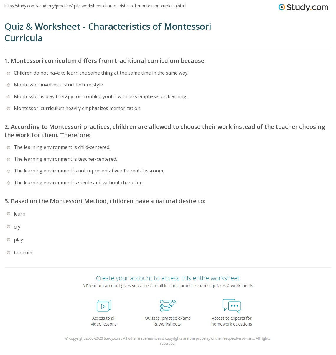 Worksheets Montessori Worksheets generous worksheet print answers kindergarten worksheets to quiz characteristics of montessori curricula study com