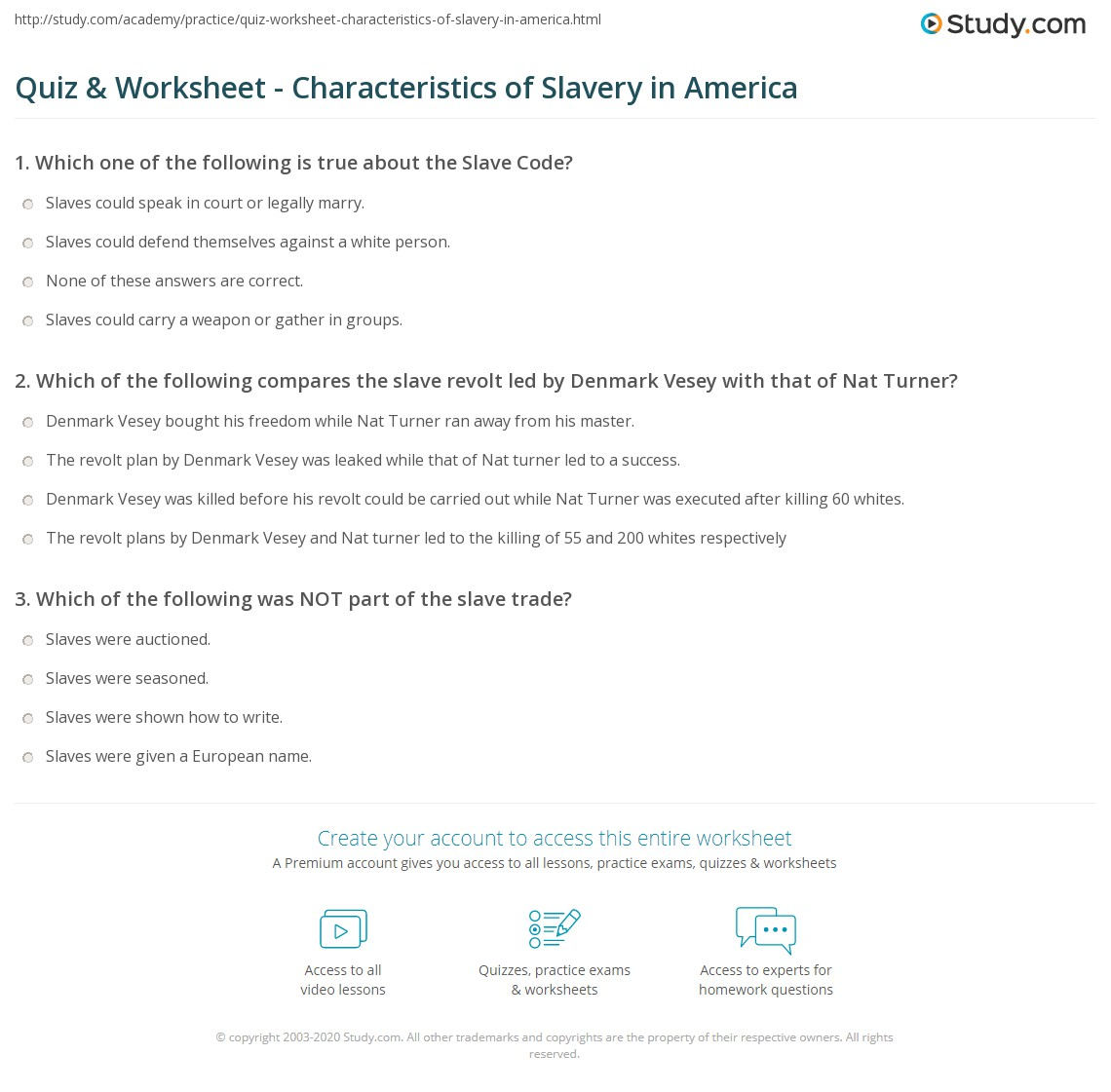 slavery worksheet the best and most comprehensive worksheets. Black Bedroom Furniture Sets. Home Design Ideas
