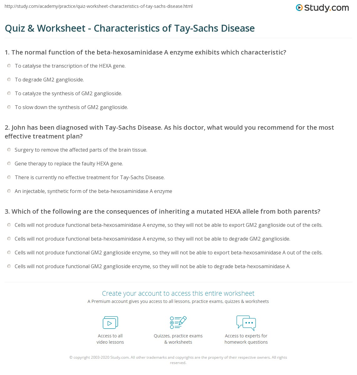 tay sachs disease teaching plan Tay-sachs genetics case study  a teaching plan for trosacks' initial visit is also presented along with the ethical implications regarding the  tay - sachs.