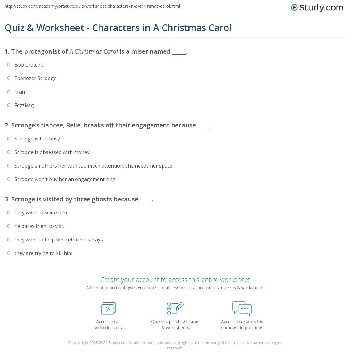 print characters in a christmas carol by charles dickens worksheet