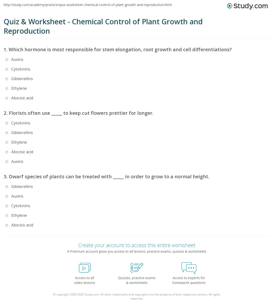 Plant Hormones. Can you explain what is happening. Click to reveal ...