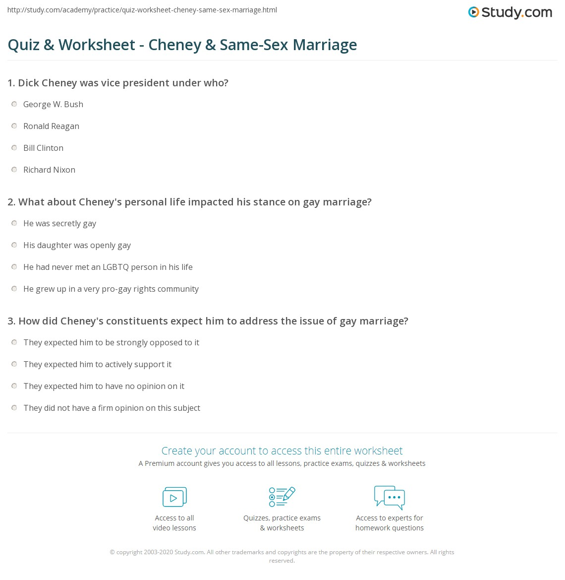 Sex marraige quiz